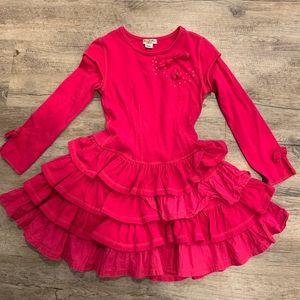 Pretty Eliana Et Lena Girls twirly dress. Size 5a